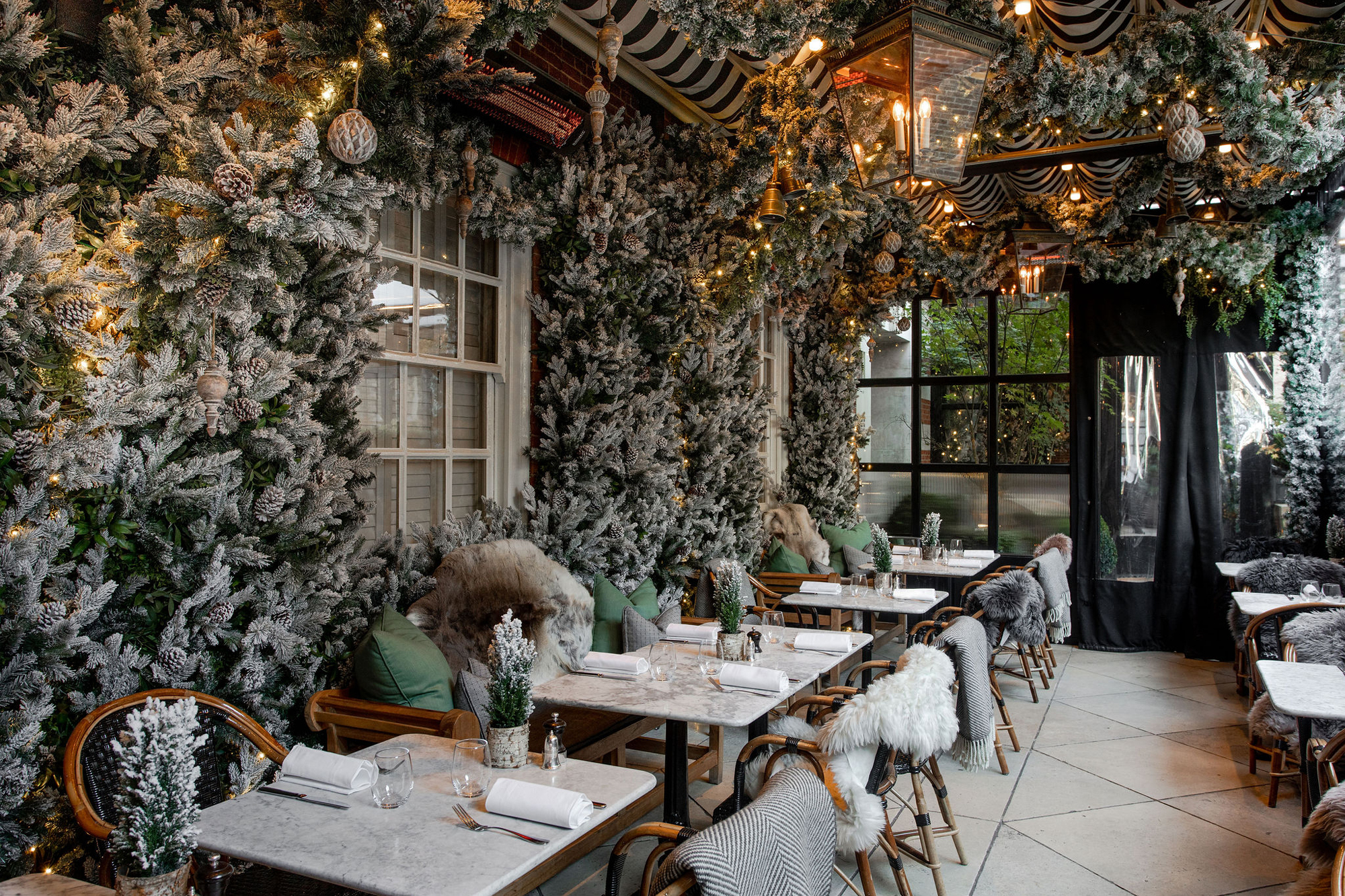 Dalloway Terrace went through an immersive transformation to create an authentic Swiss gastronomic experience