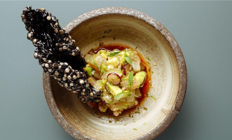 Seabass ceviche is a light choice