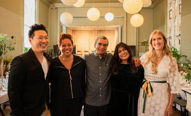 The Cobra Collective. From left to right: Michelin chef Andrew Wong, MasterChef host Monica Galetti, beer sommelier Ed Hughes, restaurateur Nisha Katona MBE, and content creator, Alexandra Dudley