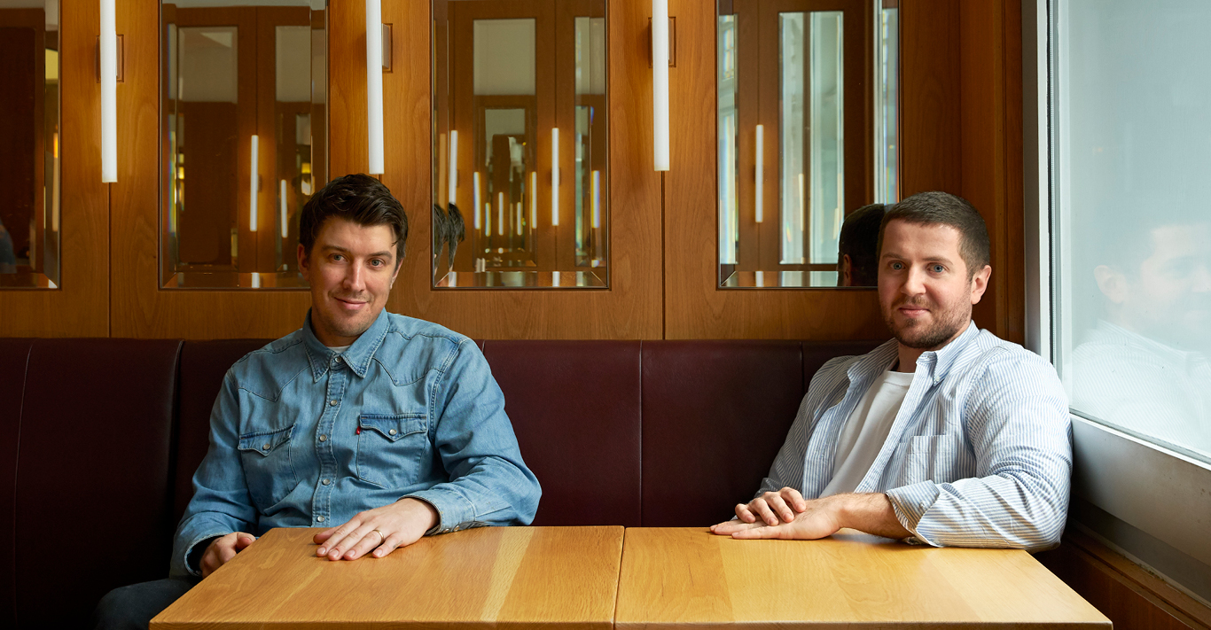 Joe Fox, Head Chef of Townsend on the left; Nick Gilkinson, Director of Townsend on the right