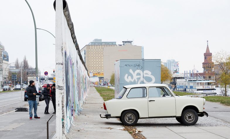 With views over Berlin Wall