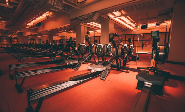The luxurious interiors of Core Collective are the background for CCTV's online workouts