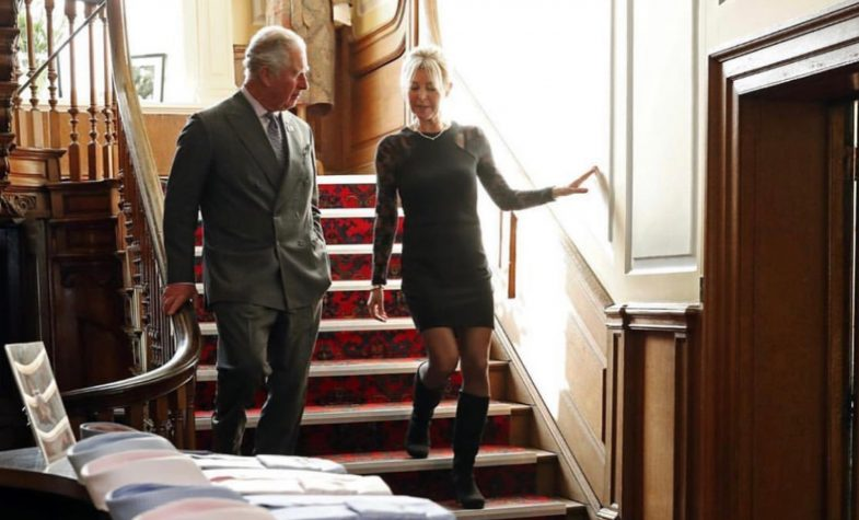 Emma Willis with HRH Prince Charles who recently her factory in Gloucester