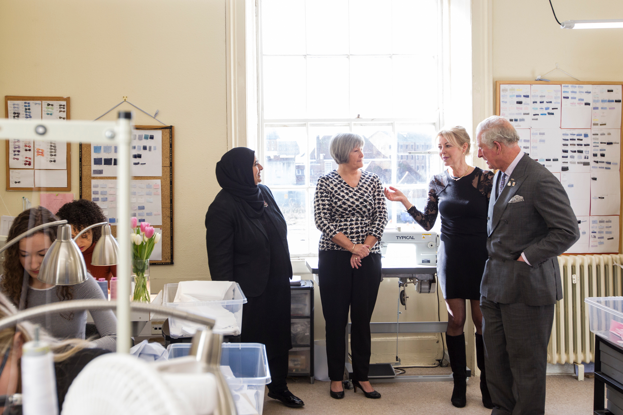 HRH Prince Charles met Aysha Randera while visiting the Emma Willis factory in February 2020
