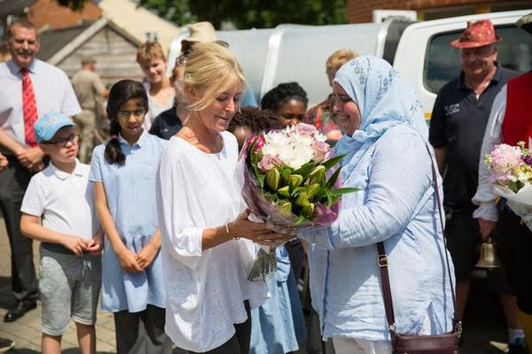 Emma Willis with Aysha Randera as the tailor presented the keys to a much-needed 4x4 vehicle for Gloucester's City Farm