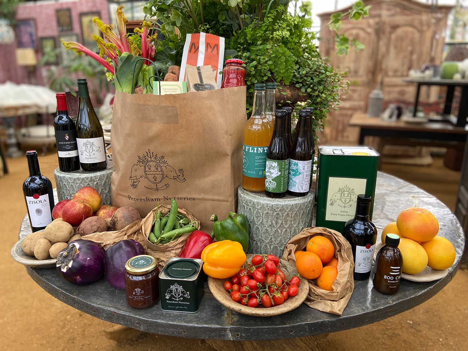 Petersham Nurseries is offering home delivery of the finest quality groceries