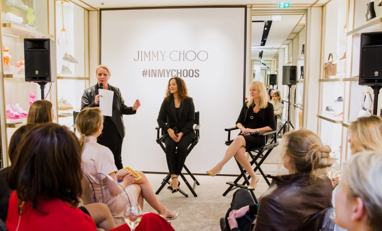 Julia Streets, Dr Miranda Brawn and Sue Langley OBE at the In My Choos event