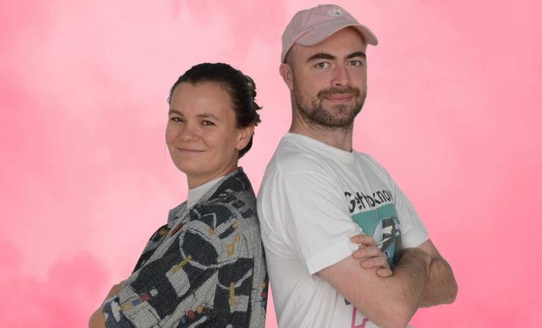 Ellen Parr and Pete Kelly, the founders of Lucky & Joy
