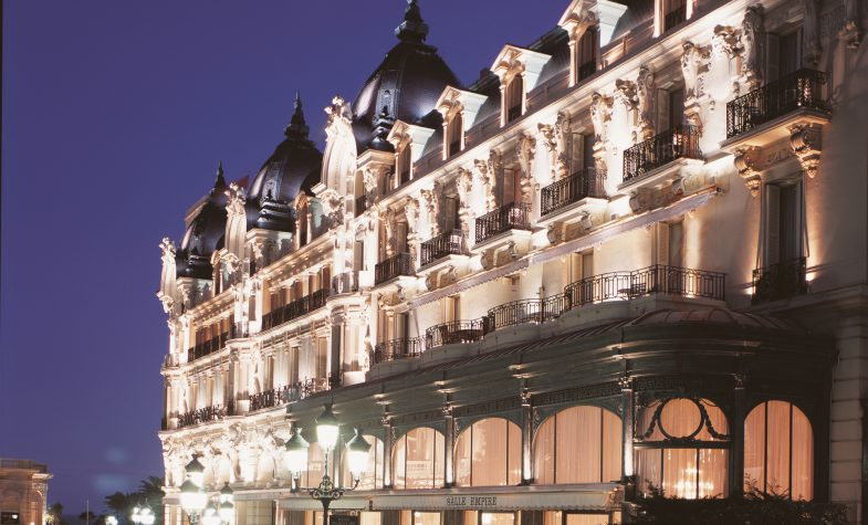 The iconic facade of the Hôtel de Paris