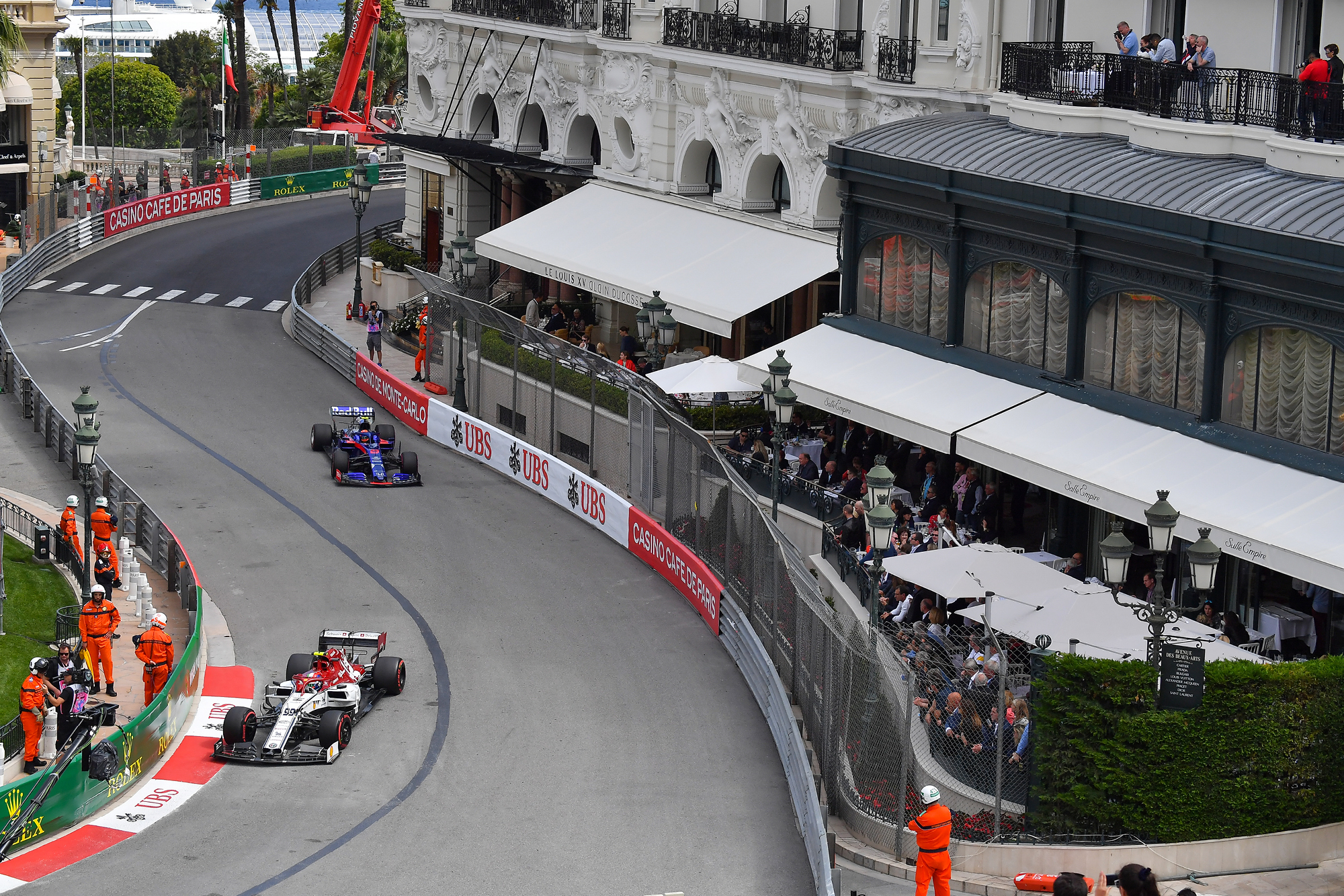 2019 Formula One World Championship happening adjacent to the Hôtel de Paris