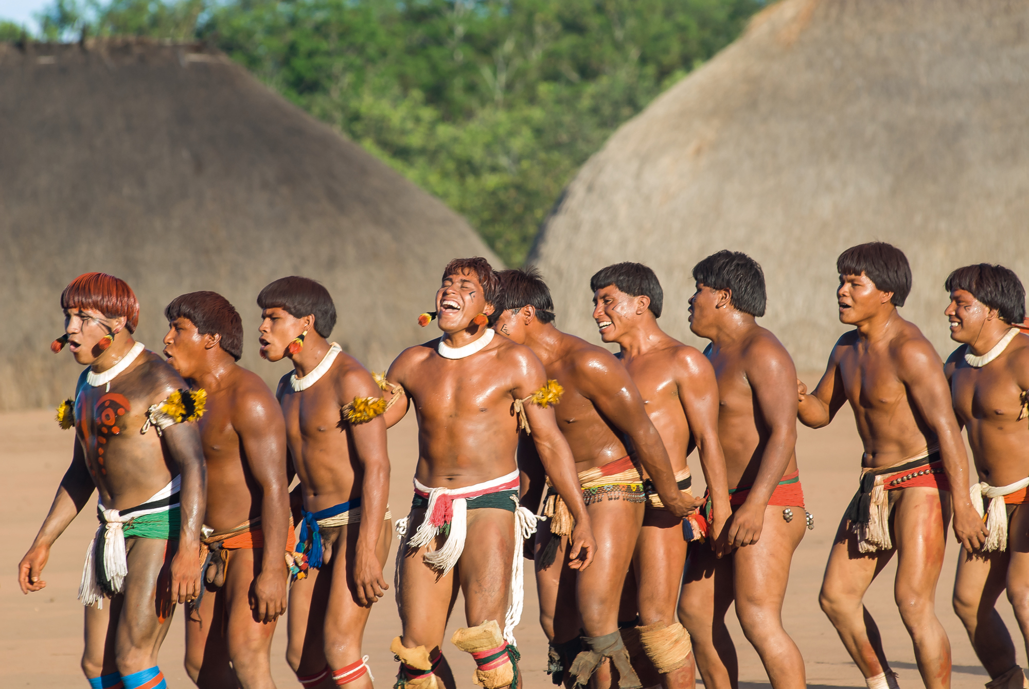 Cunningham has been photographing Amazonian tribes people for many years