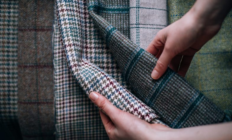Araminta Campbell's eponymous label creates textiles such as handwoven alpaca and heritage tweed