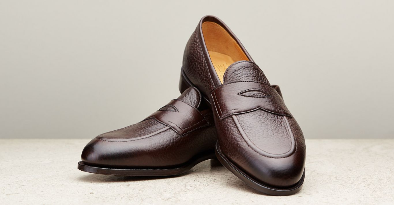 Edward Green Piccadilly loafers in dark brown London grain
