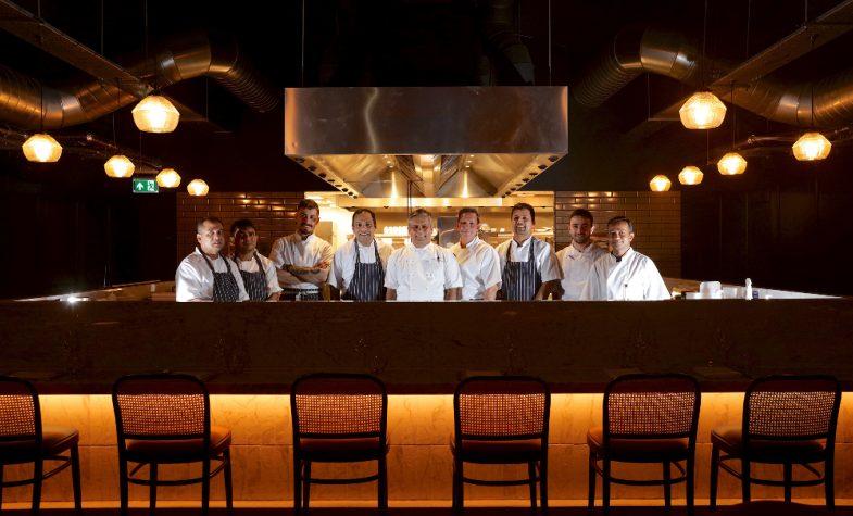 Vivek Singh with his team at Cinnamon Kitchen Battersea