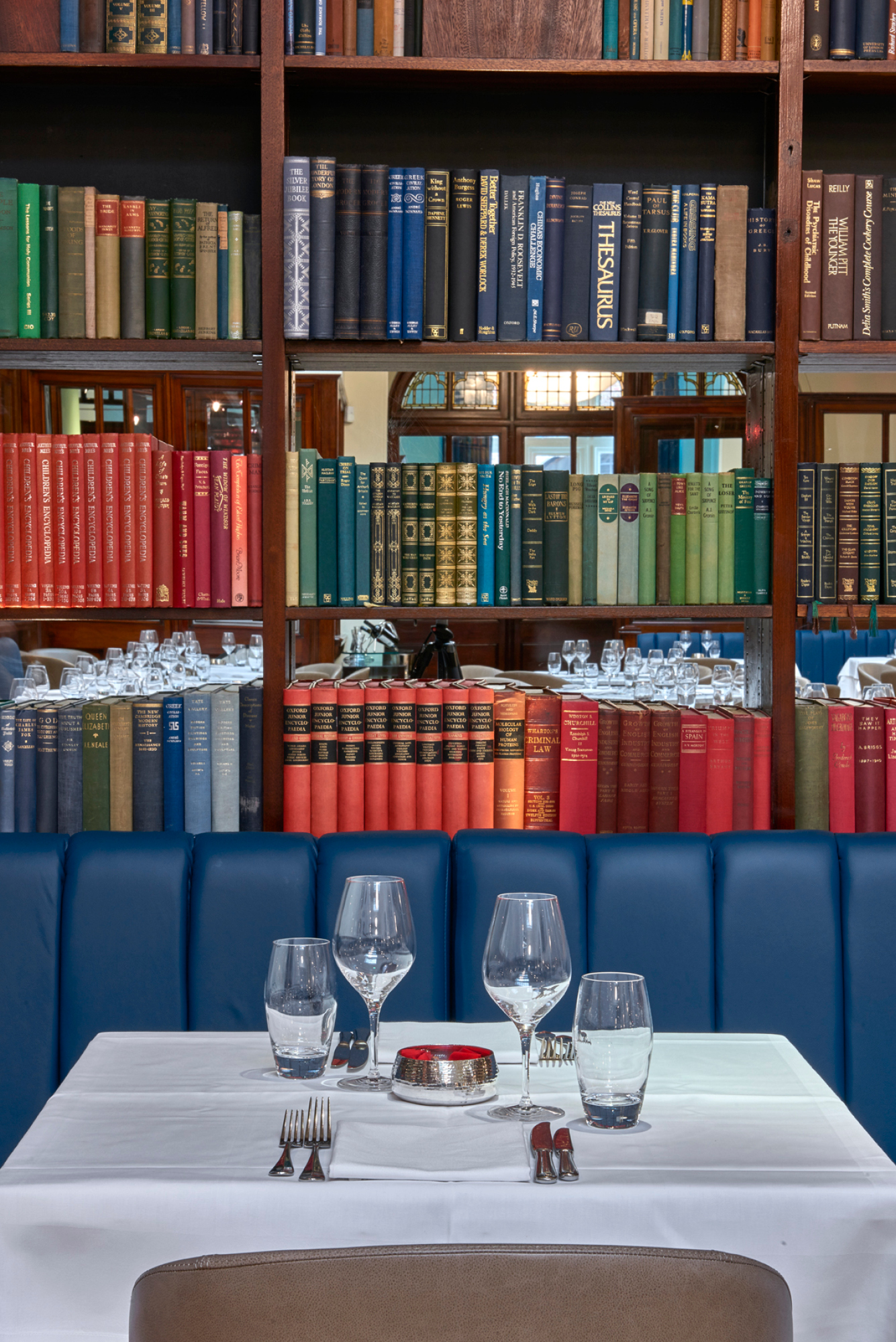A table at The Cinnamon Club, one of Vivek Singh's lauded restaurants