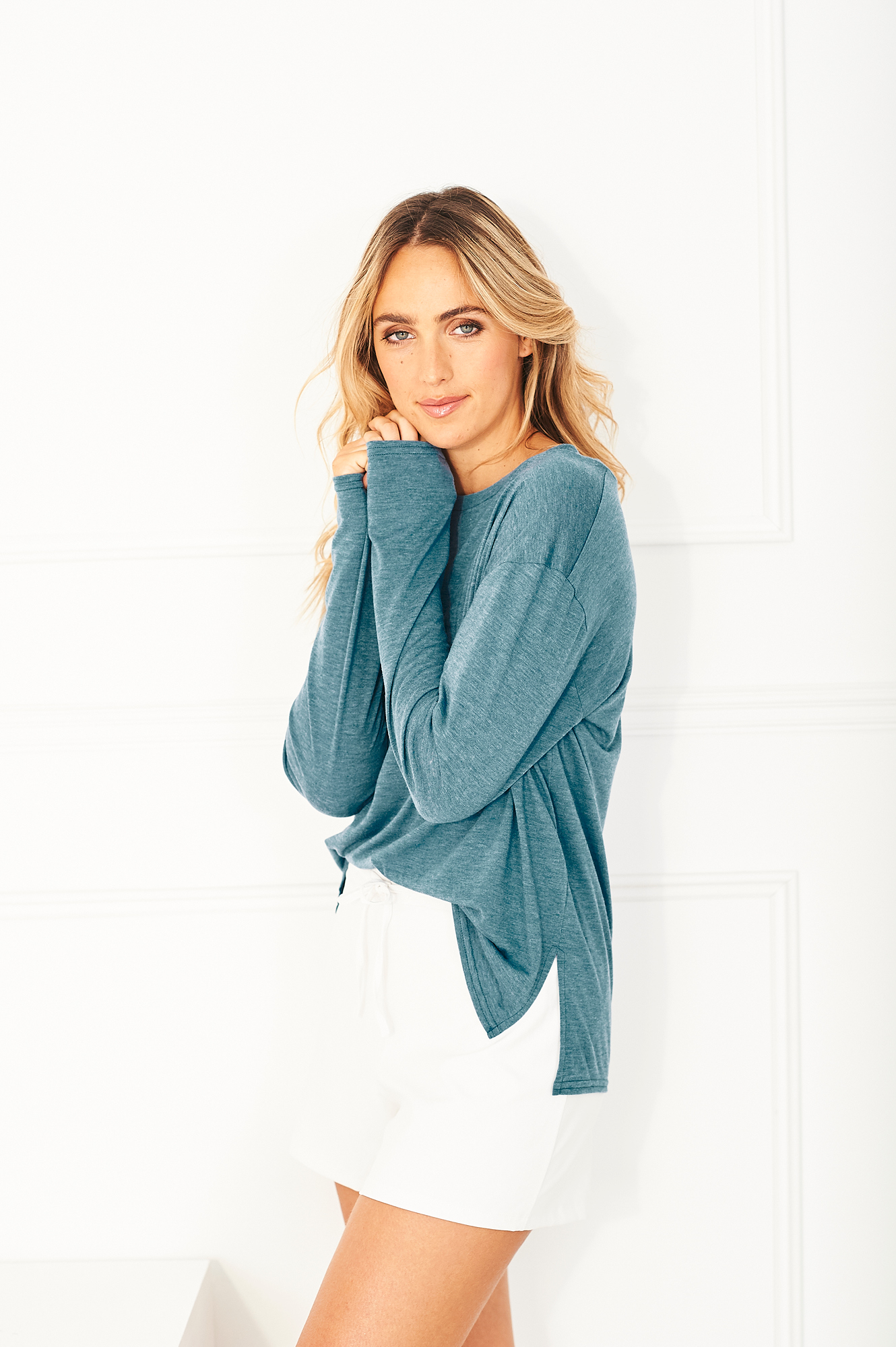 The Cucumber Pacific Blue Oversize tee is another of Eileen's favourites