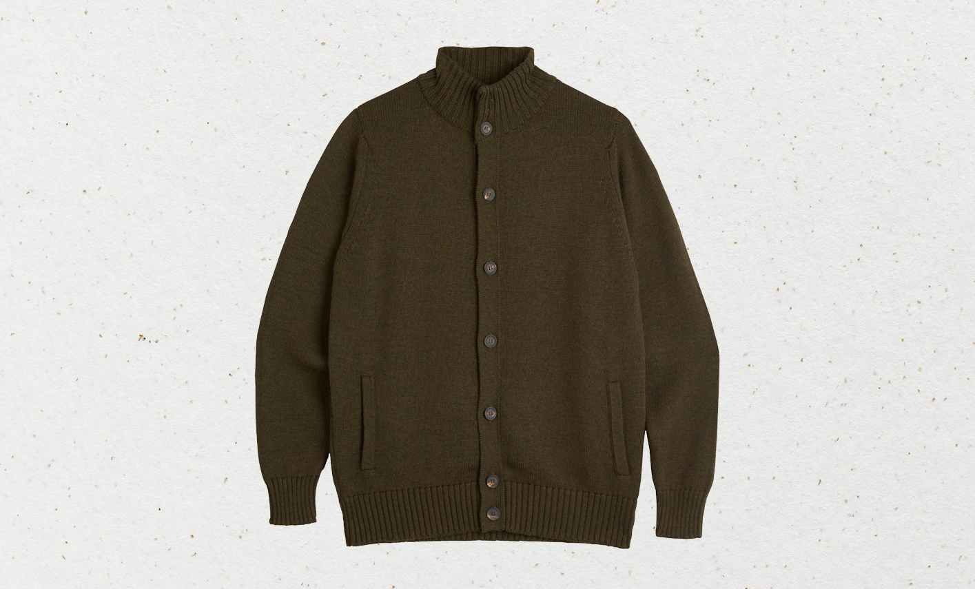 Trunk Clothiers' contemporary but classic 'Norfolk' cardigan