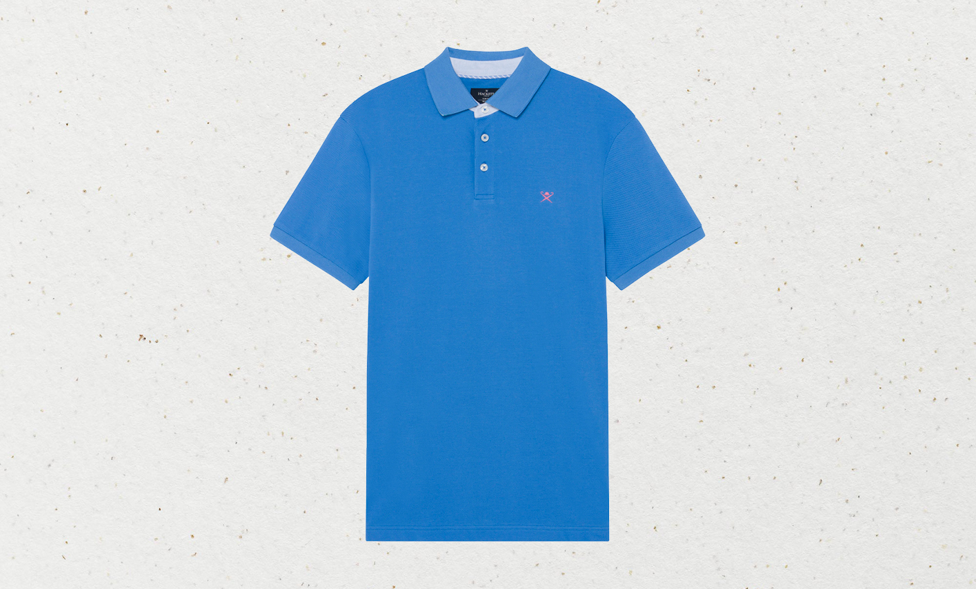 Sporting sophistication: Hackett's coral trim polo shirt