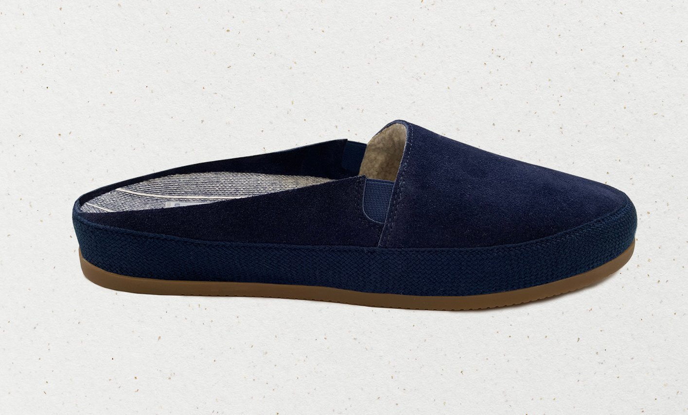 Dependable downtime extravagance: Hamilton and Hare x Mulo suede slippers