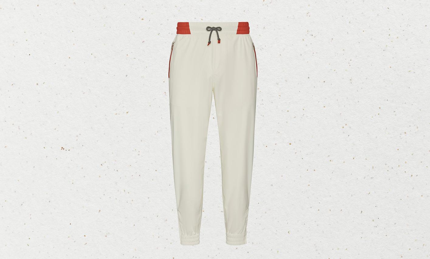 Brunello Cucinelli sporty matte nylon trousers