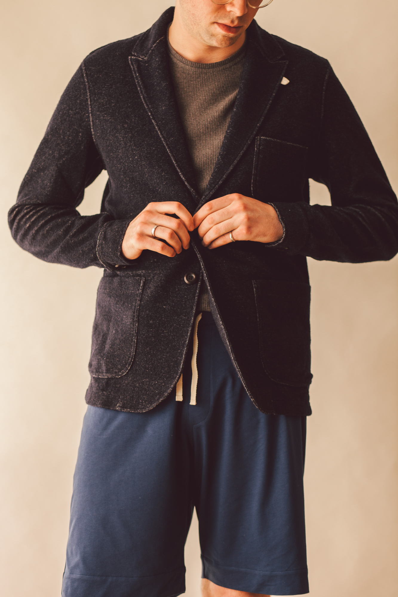 Oliver Spencer Lounge Jacket Birch in navy, £249