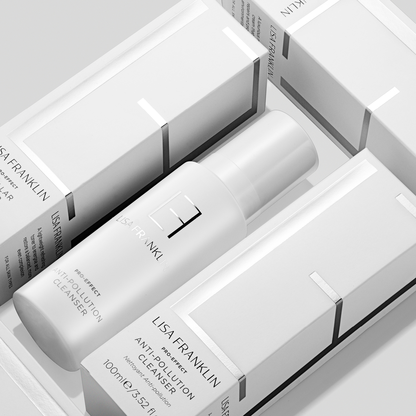 Lisa Franklin's skincare range is targeted at combatting the negative effects of pollution