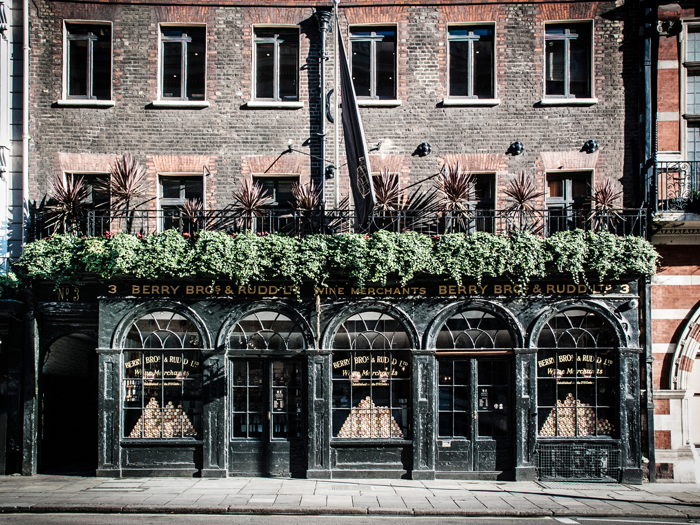 No. 3 St James's Street, London, has been the home of Berry Bros & Rudd since 1698