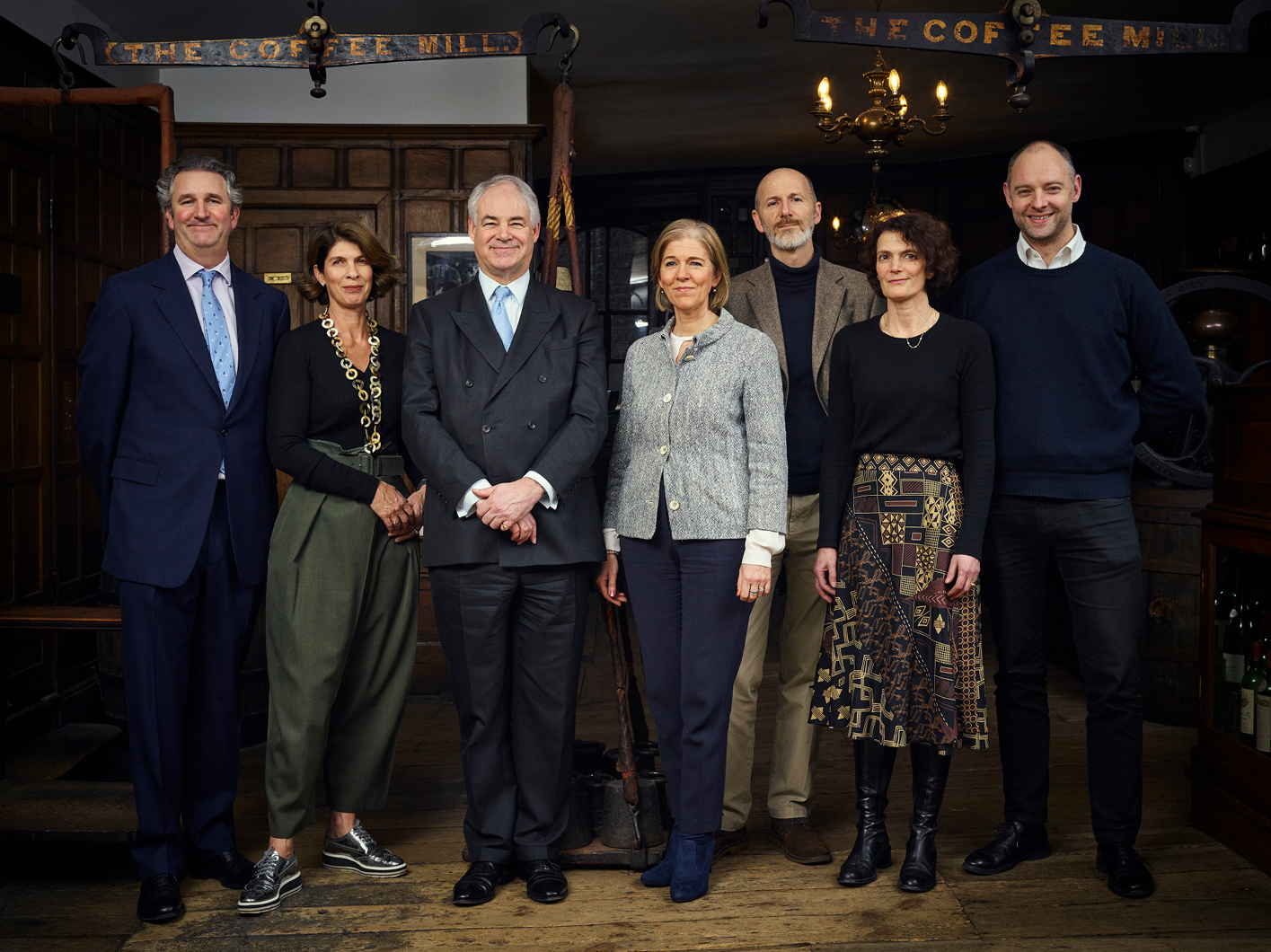 Members of the Berry and Rudd families, from L to R: Edward Rudd, Emma Marsh, Simon Berry, Lizzy Rudd, Richard Rudd, Clare Rodger, Geordie Willis