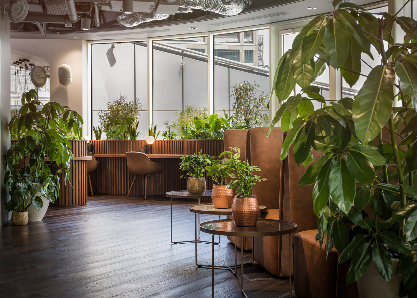 Biophilic designed workspaces at Uncommon Liverpool Street
