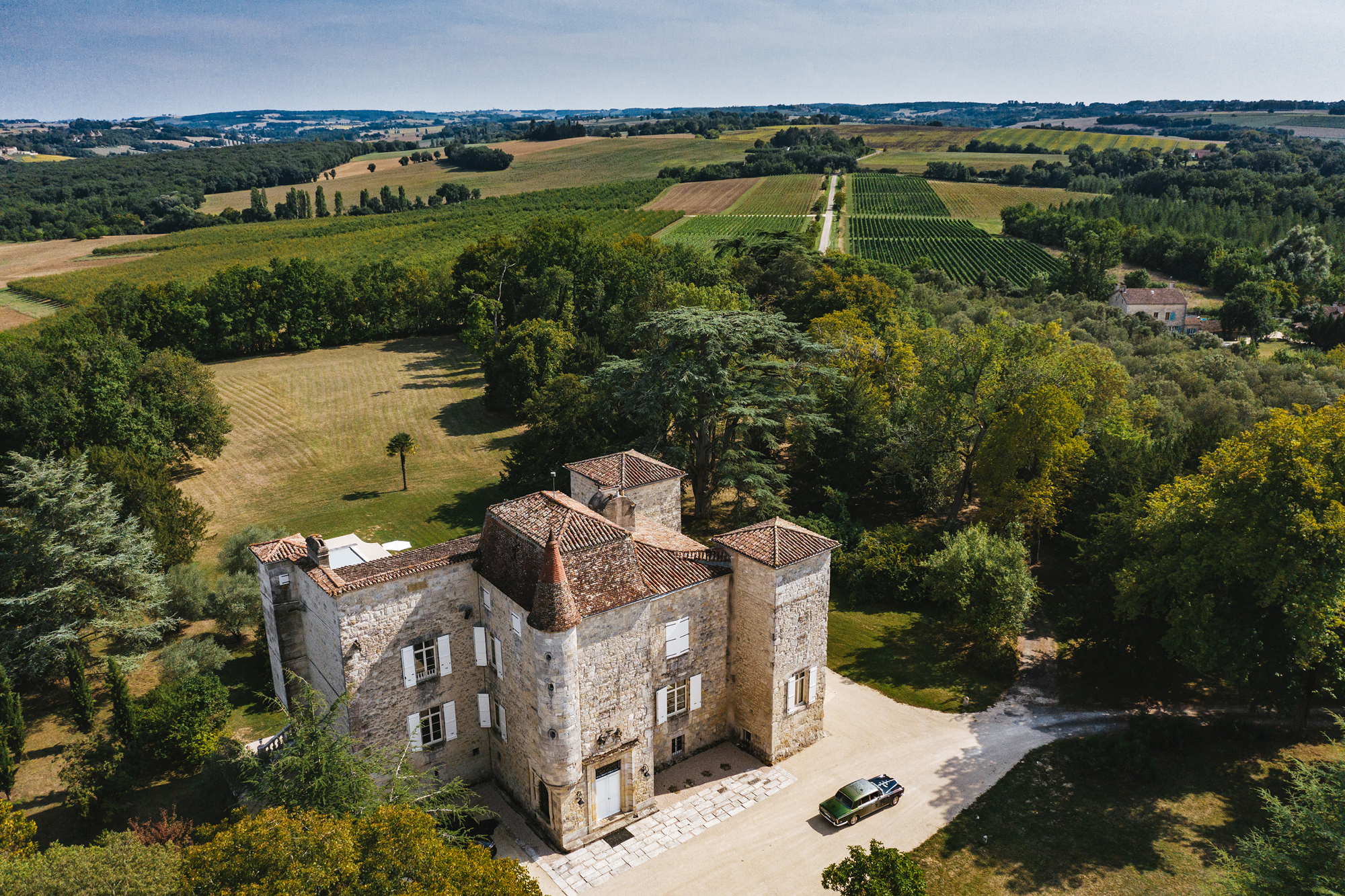 Chateau Gensac, the home of Gensac Armagnac and wines