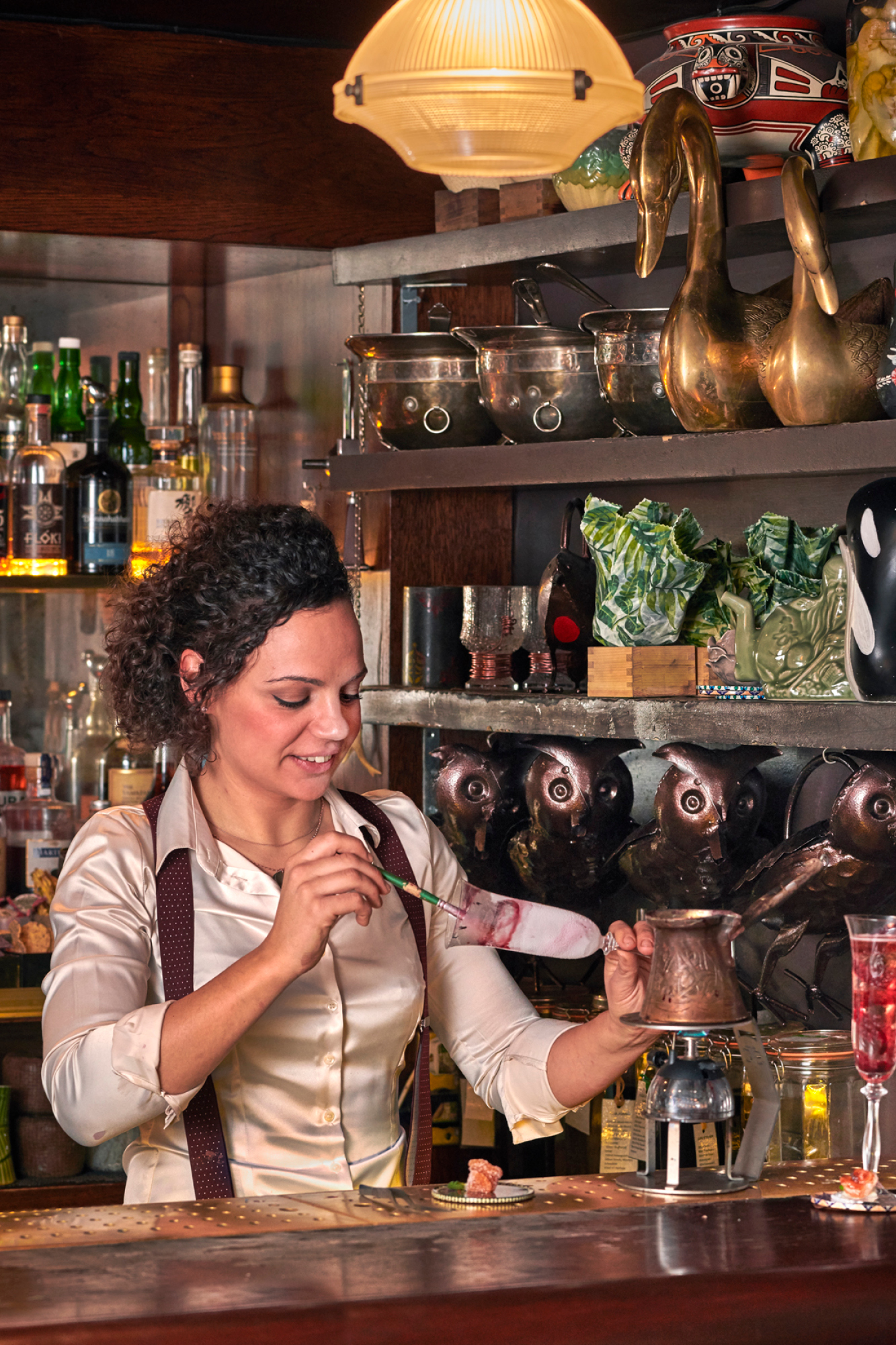 Françoise Peretti and the Champagne Bureau has been working with bar tenders to develop new ways of serving champagne