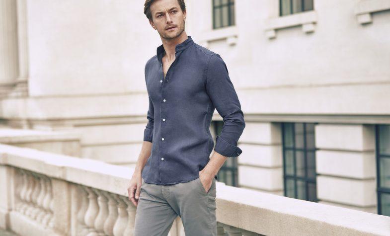 Luca Faloni Versilia linen shirt in Payne's grey, £130