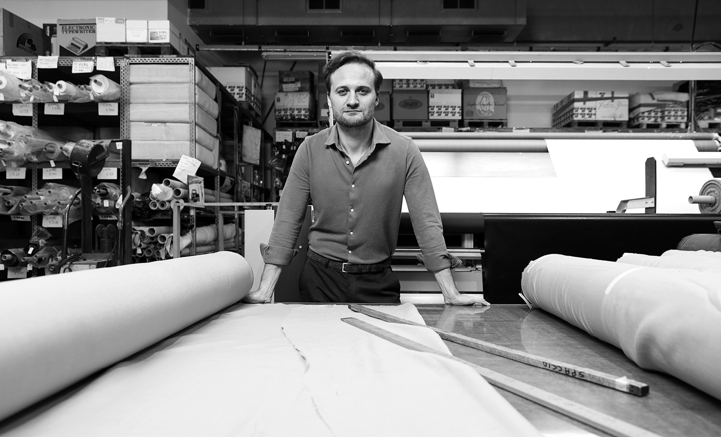 Luca Faloni, whose collections are 100 per cent made in Italy