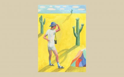 Lot 6: Jess Quinn – He Had Been Wandering in the Wrong Direction for Years! I LOVE the title and the brilliant red-faced man in his socks and sandals: lost and searching but confidently looking to the horizon. Is it allegorical of all white males right now?