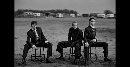 Alexandra Carlsson, Beri Smither, Harue Miyamoto Beauduc 1993 Photo by Peter Lindbergh Emporio Armani Magazine 10