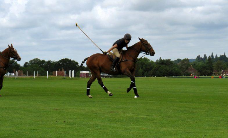 Jemima Wilson plays polo at Cowdray Park
