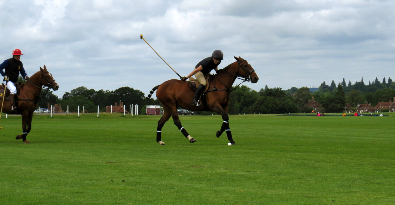 Jemima Wilson plays polo at Cowdray Park