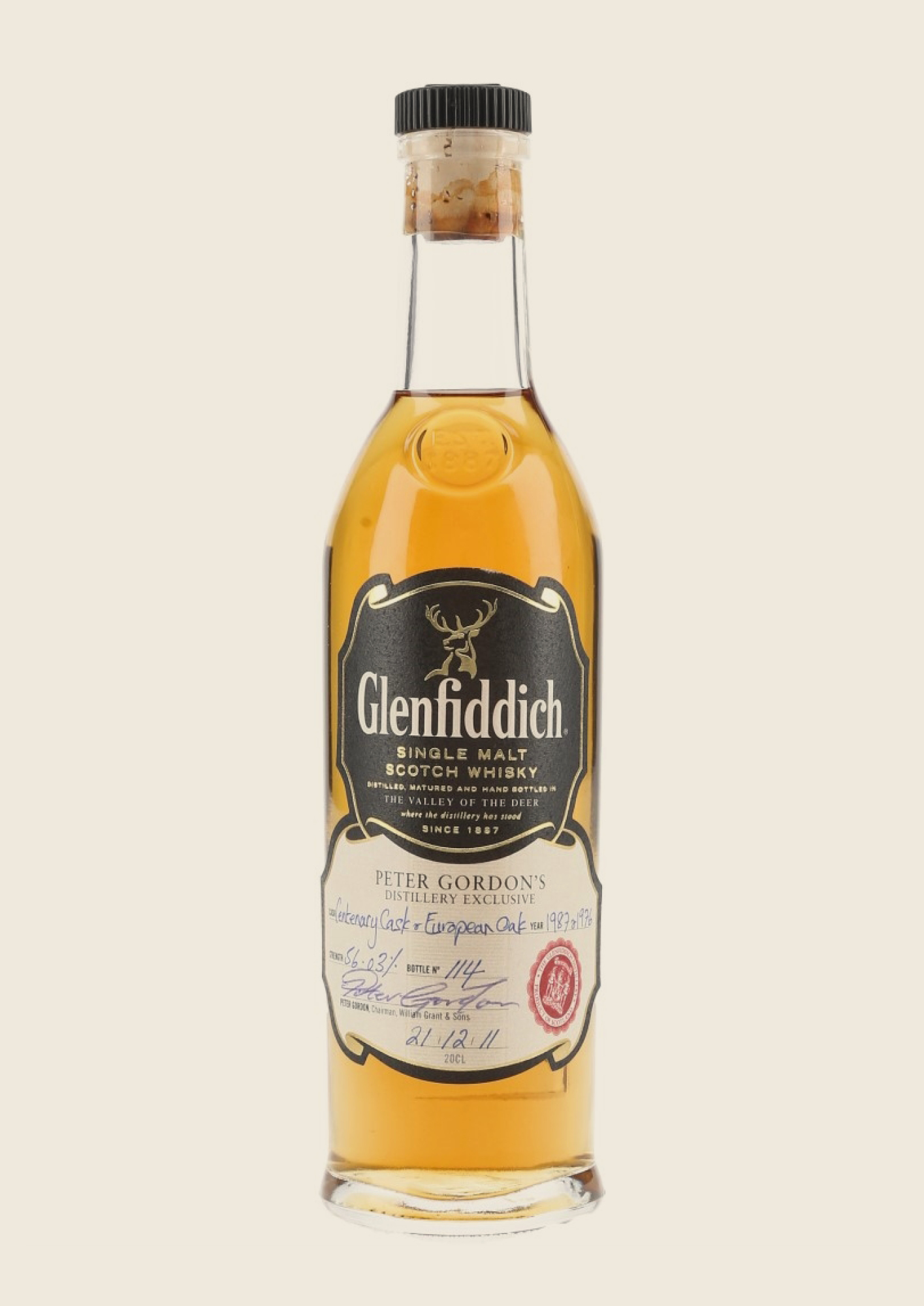 One of the most prized lots is a previously unreleased single malt from Glenfiddich