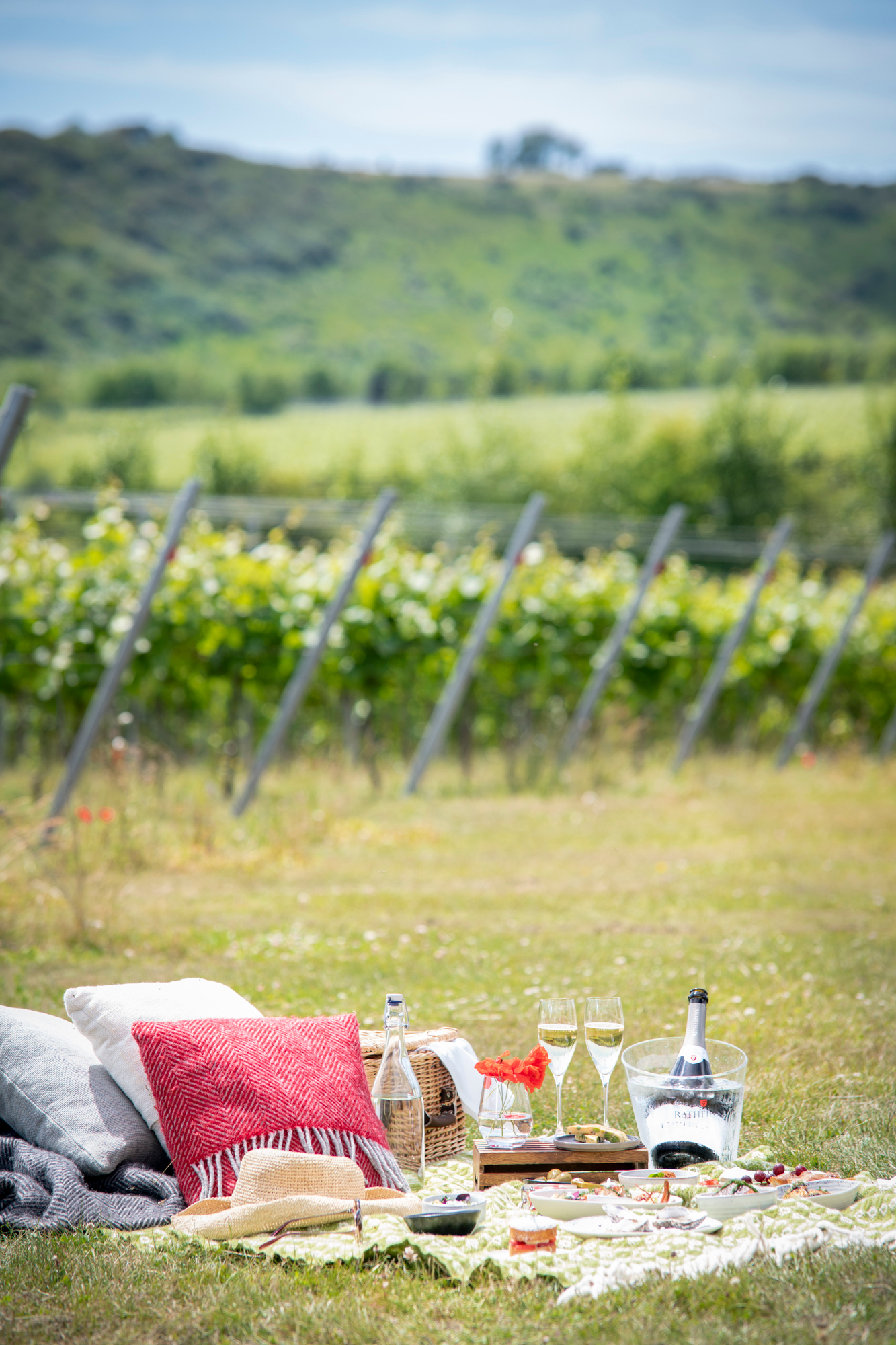 A perfect option for social distancing, Rathfinny offers sumptuous picnics on the estate