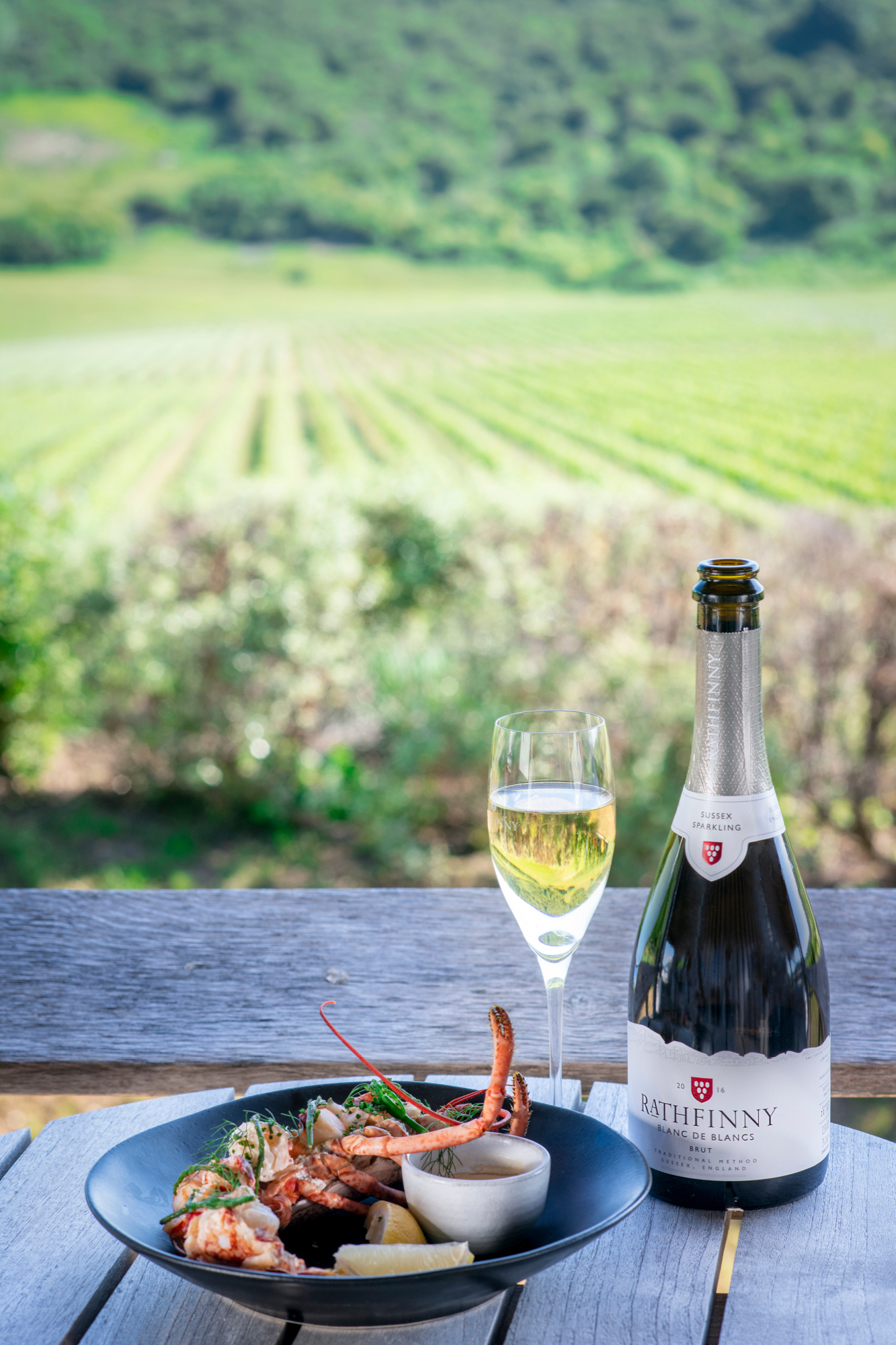 The Seafood Kitchen at Rathfinny offers takeaway to be enjoyed by the vines