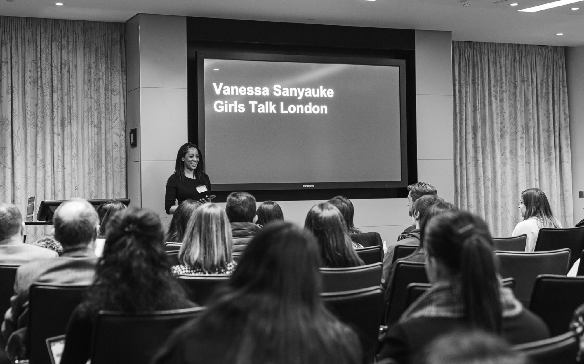 Vanessa Sanyauke at a Girls Talk London event