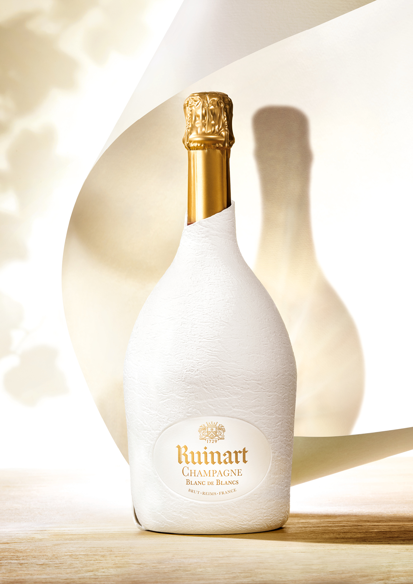 Ruinart's second skin has been carefully designed to prevent light ingress