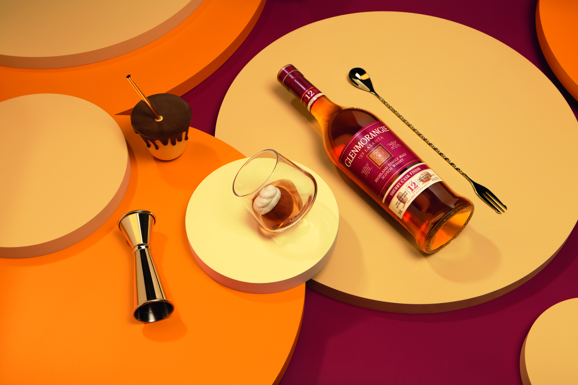 Ansel's Caketails also includes a pairing with Glenmorangie's The Lasanta