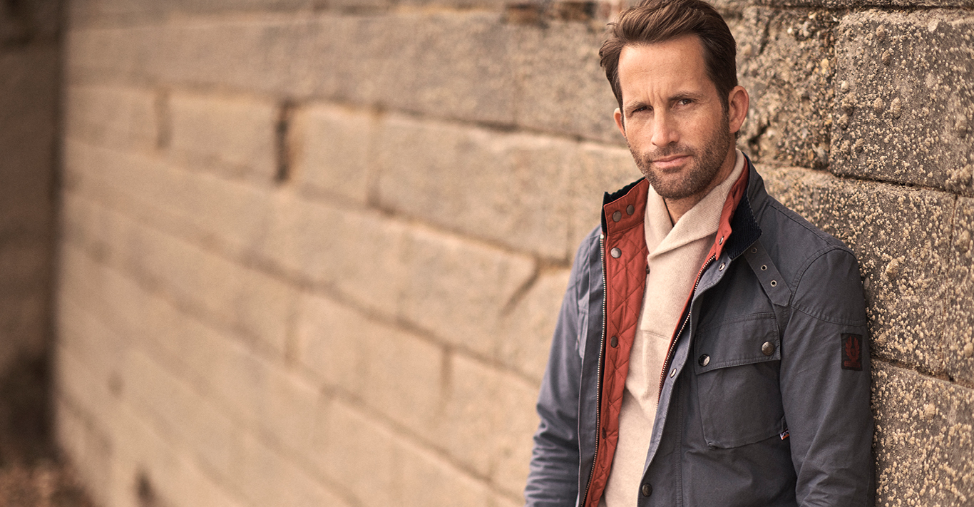 Sir Ben Ainslie, captain of the INEOS America's Cup team, wearing Belstaff