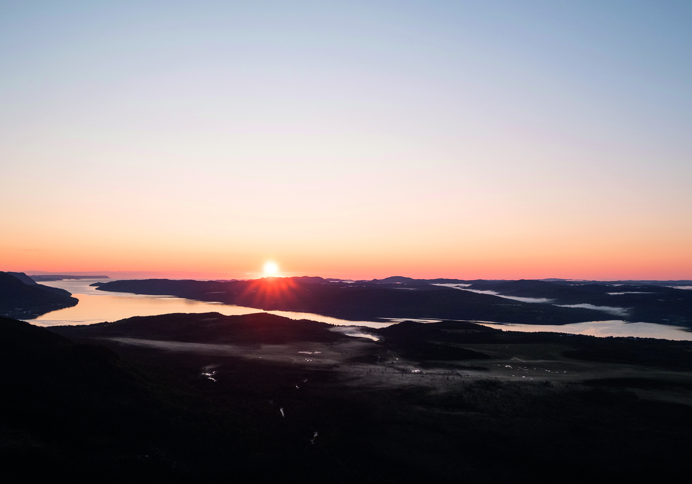 A sunrise view rewards hikers on the Alexander Murray hiking trail