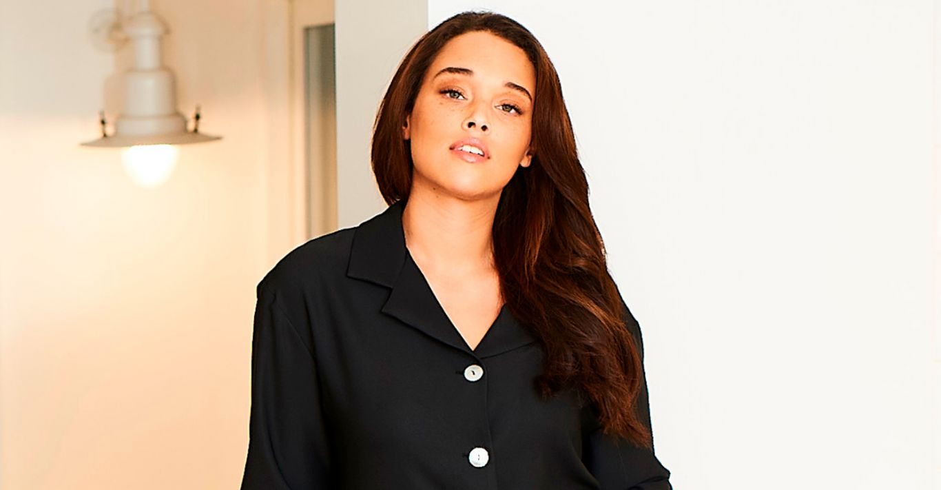 Cucumber's shell button pyjama top works just as well tucked into jeans for a chic daytime look as it does when lounging at home