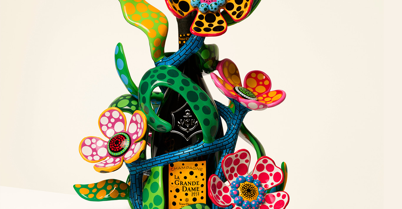 My Heart That Blooms In The Darkness Of The Night by Yayoi Kusama for Veuve Clicquot