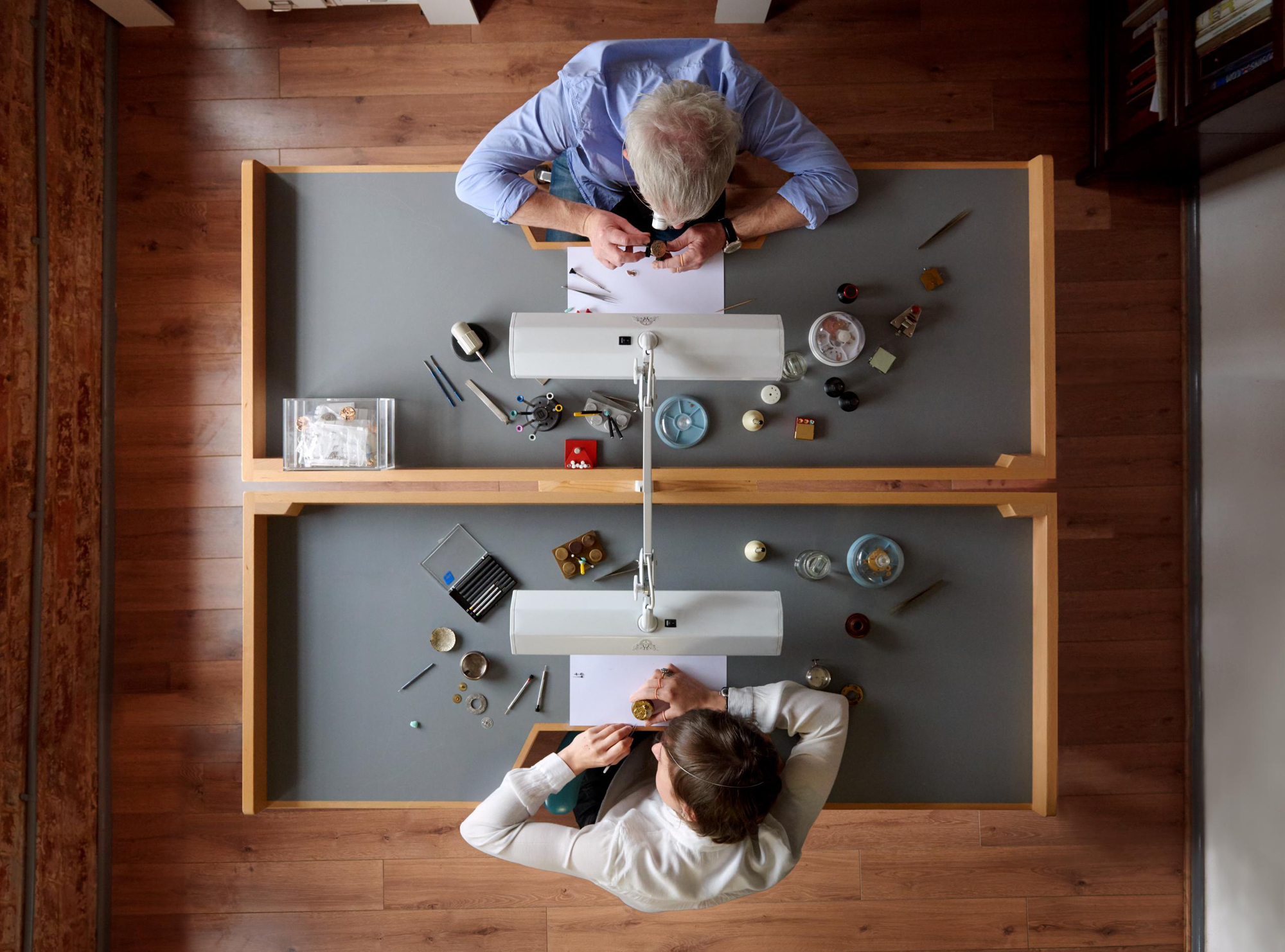 Watchmakers Craig and Rebecca Struthers, photography: Andy Pilsbury