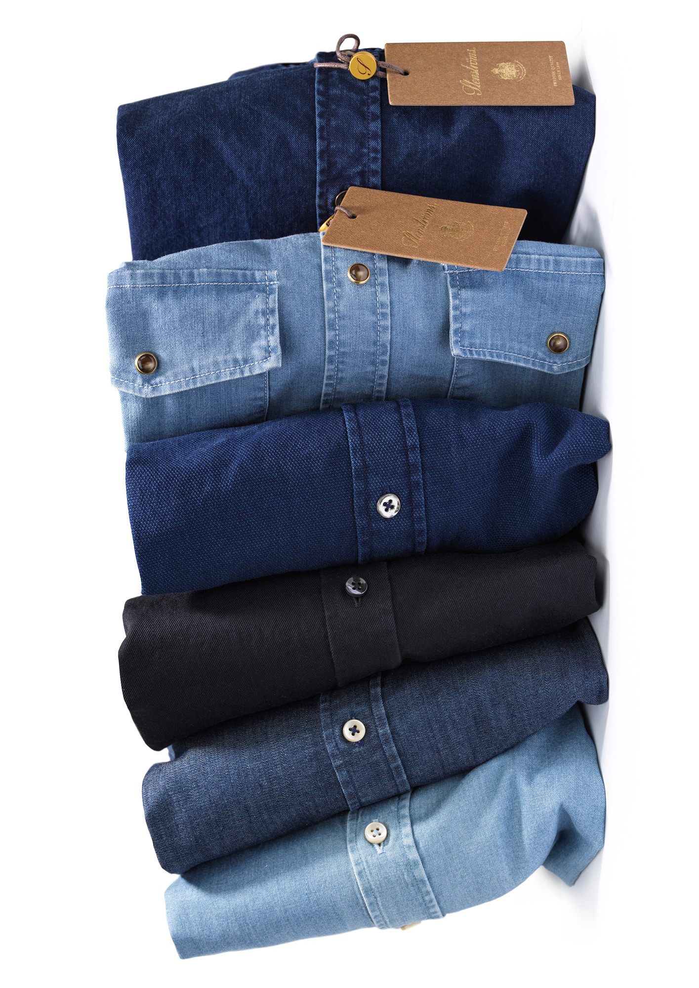 Stenströms offers its signature shirts in a range of more casual fabrics