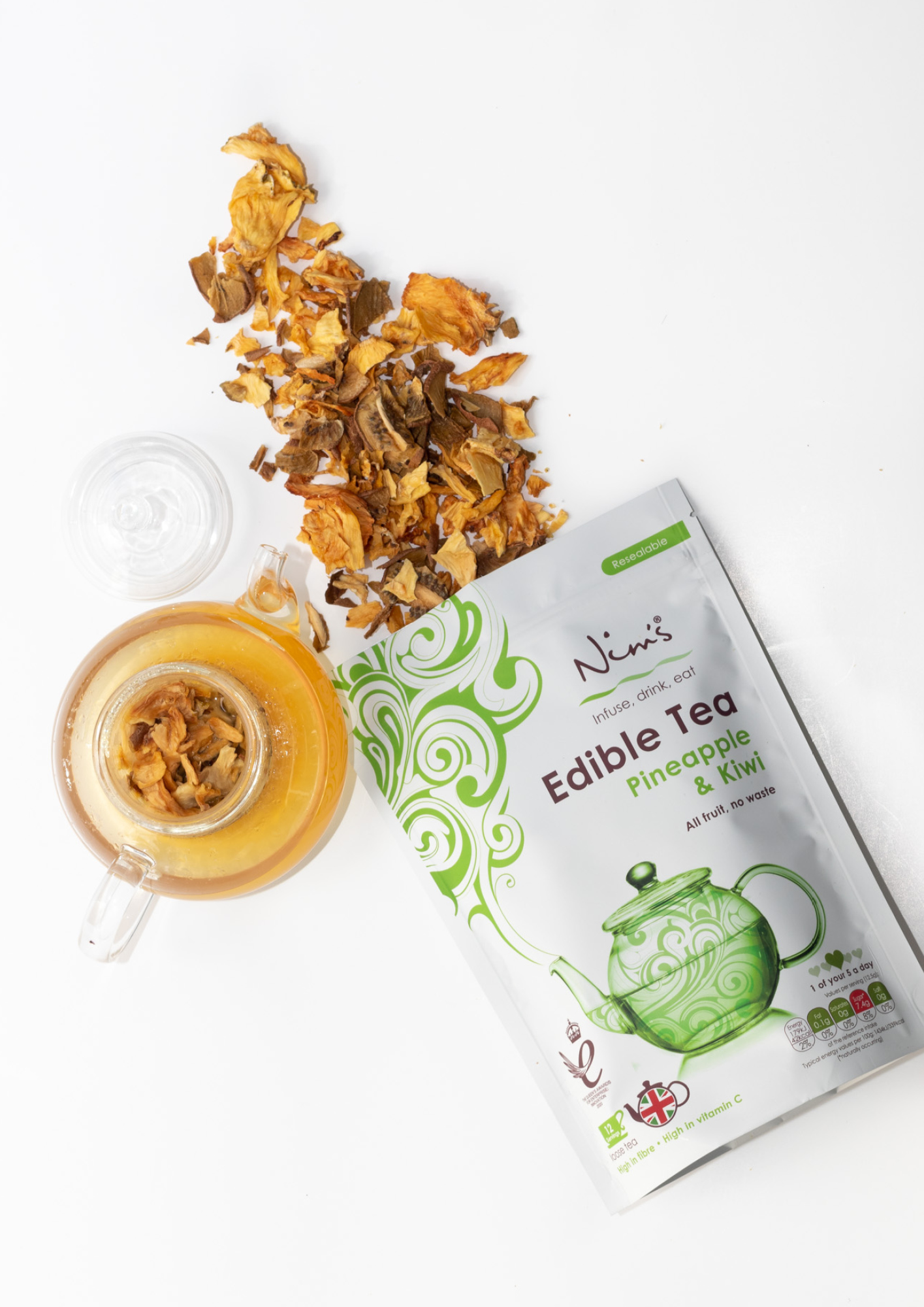 Edible Teas are one of the newest innovative project from Nim's Fruit Crisps